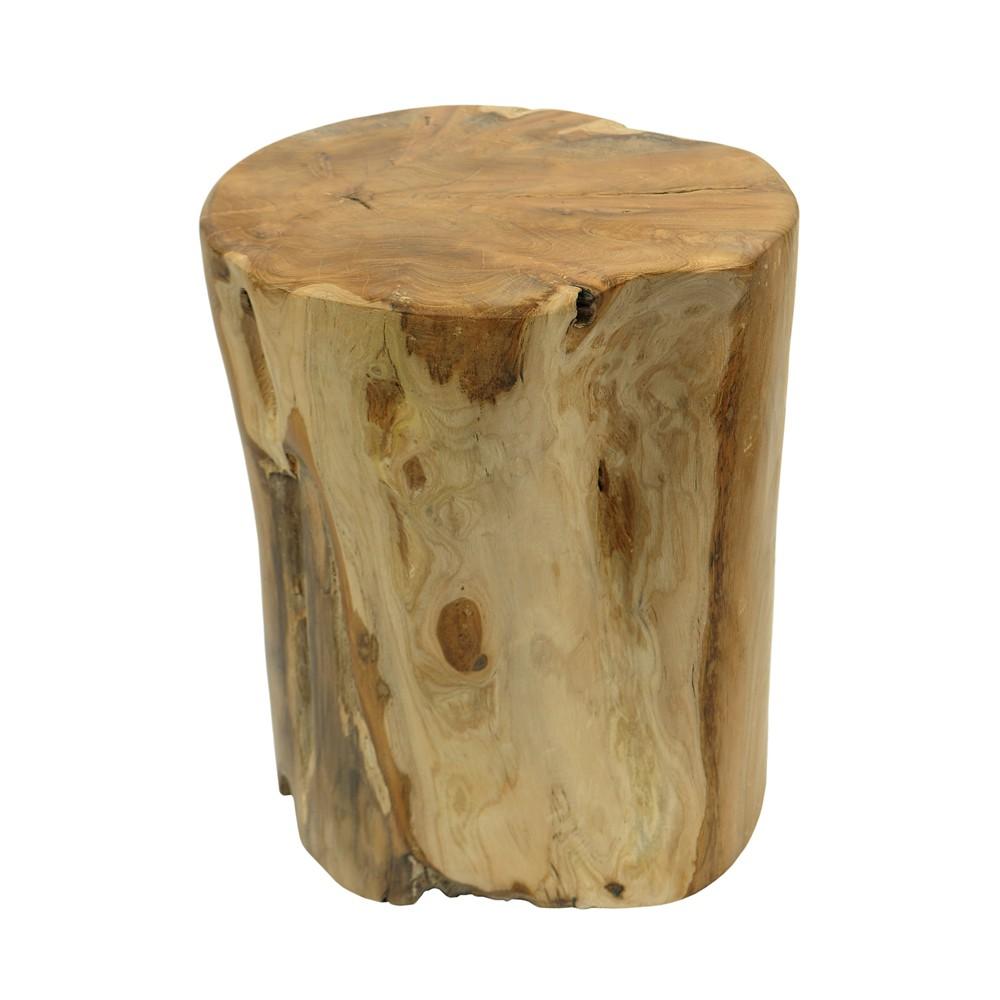 teak holz stamm hocker geschliffen elefantenfu natur massiv ca 30 40cm ebay. Black Bedroom Furniture Sets. Home Design Ideas