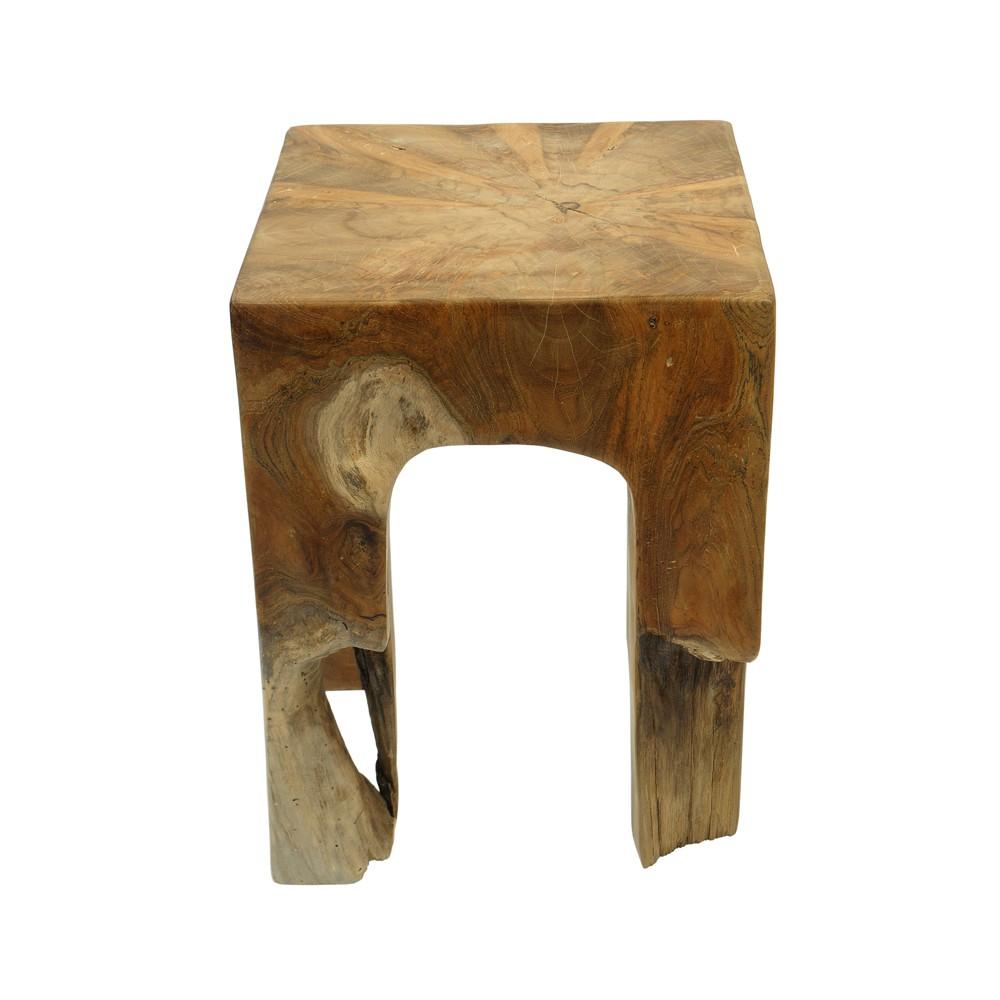 teakholz hocker 4 eckig geschliffen design. Black Bedroom Furniture Sets. Home Design Ideas