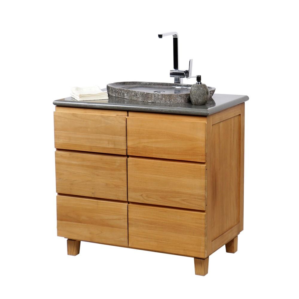 naturstein aufsatzwaschbecken waschschale aus flussstein extraflach 50 60 cm ebay. Black Bedroom Furniture Sets. Home Design Ideas