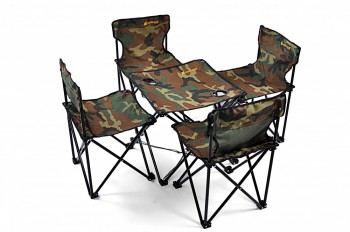 camping klappstuhl und tisch 5 teiliges set army gr n ebay. Black Bedroom Furniture Sets. Home Design Ideas