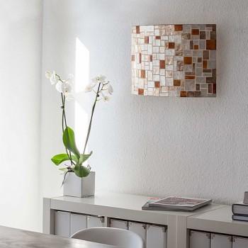 lampenschirm wandleuchte lampe dekoration beleuchtung licht perlmutt mehrfarbig ebay. Black Bedroom Furniture Sets. Home Design Ideas