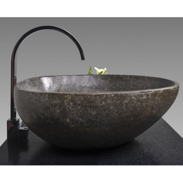 naturstein waschbecken 40 cm poliert flu stein waschschale. Black Bedroom Furniture Sets. Home Design Ideas