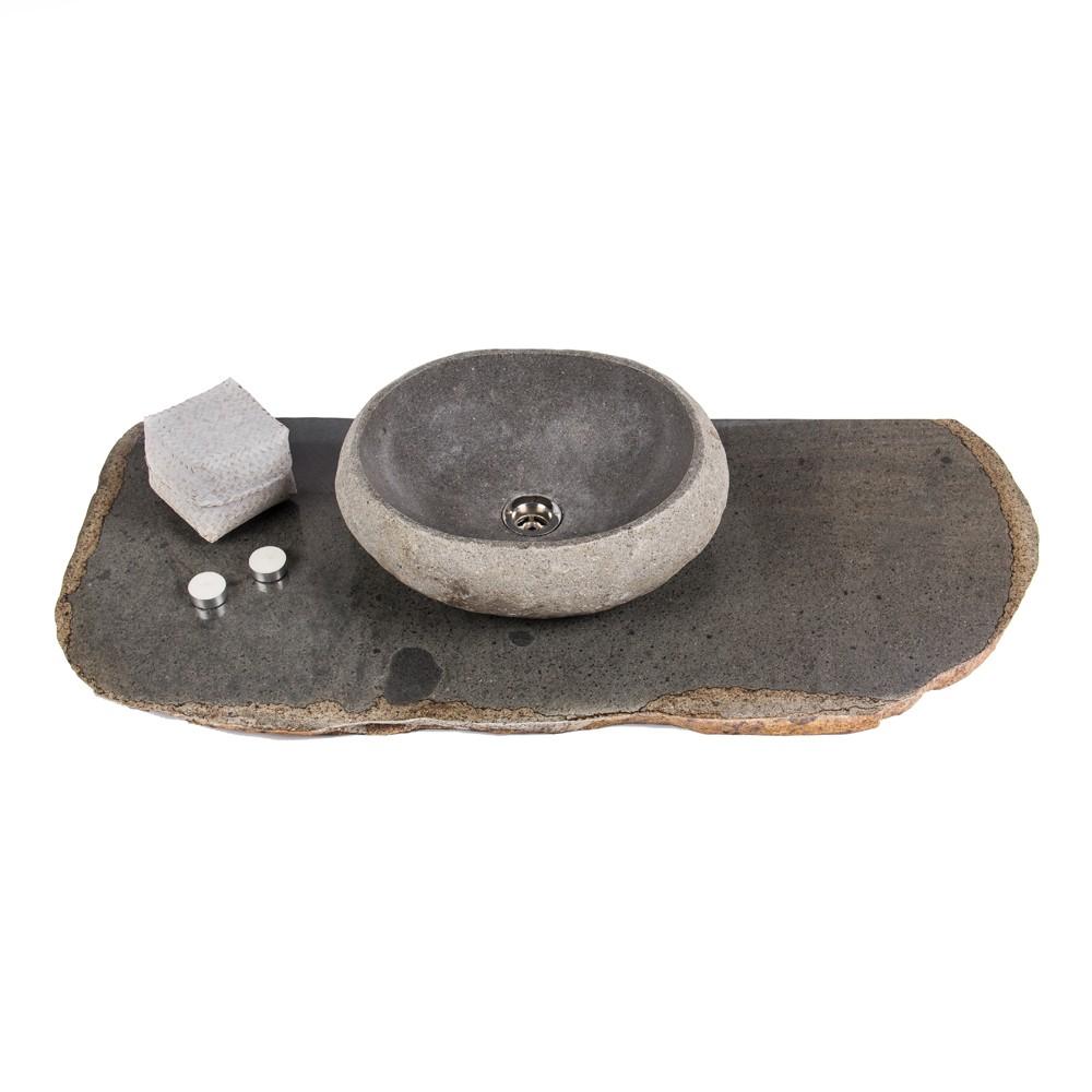 waschtisch platte stein flu stein naturstein design bad. Black Bedroom Furniture Sets. Home Design Ideas