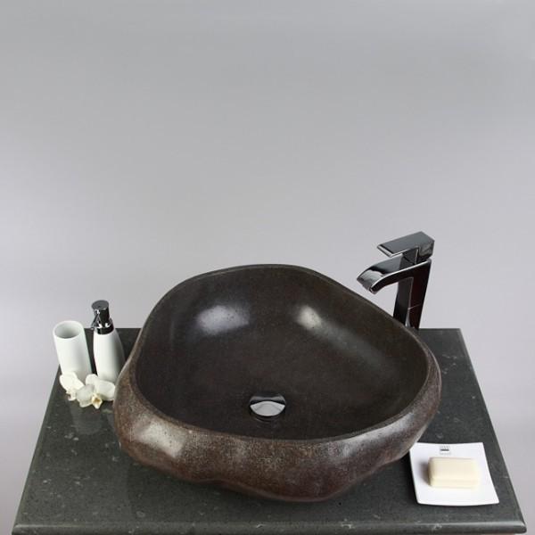 flu stein waschbecken 60 cm gro flusskiesel. Black Bedroom Furniture Sets. Home Design Ideas