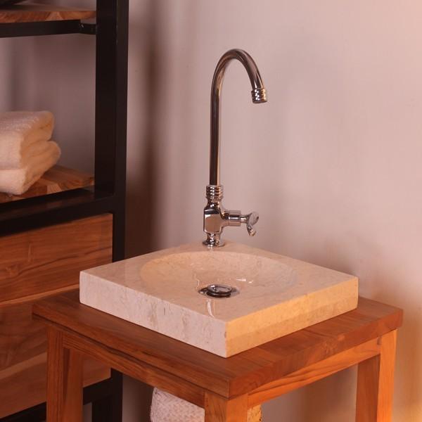 Waschbecken Höhe Bad naturstein marmor stein waschbecken handwaschbecken gäste bad creme poliert 30cm ebay