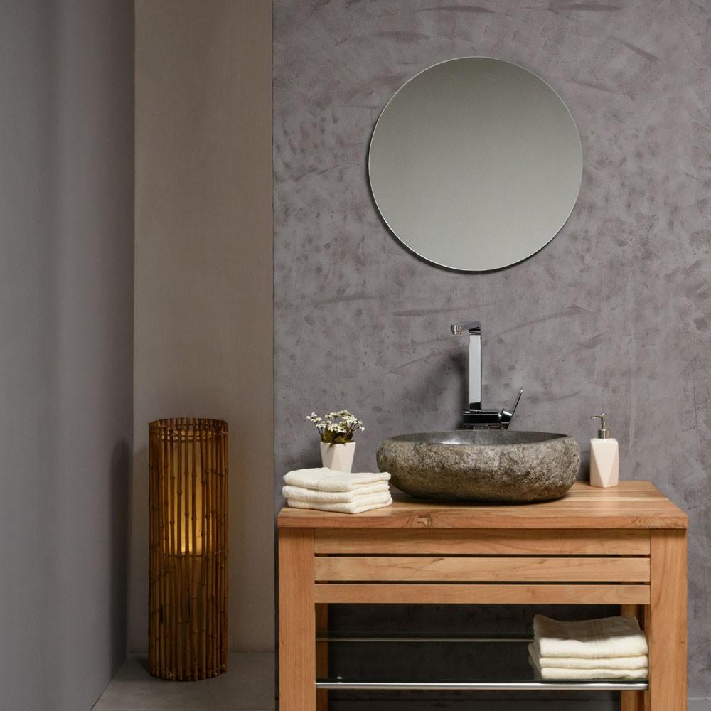 naturstein waschbecken 40 cm aufsatzwachbecken stein rund poliert badm bel. Black Bedroom Furniture Sets. Home Design Ideas
