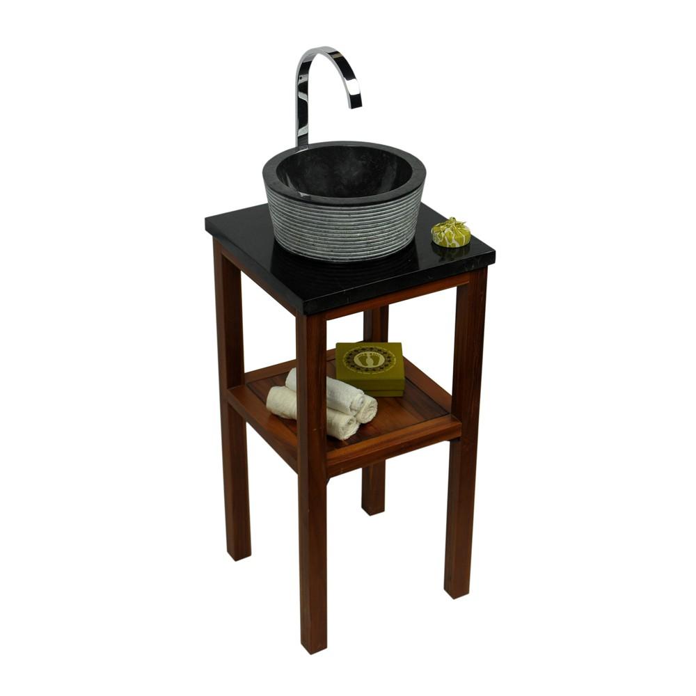 naturstein marmor waschbecken minijaya waschschale rund schwarz 30 cm klein ebay. Black Bedroom Furniture Sets. Home Design Ideas