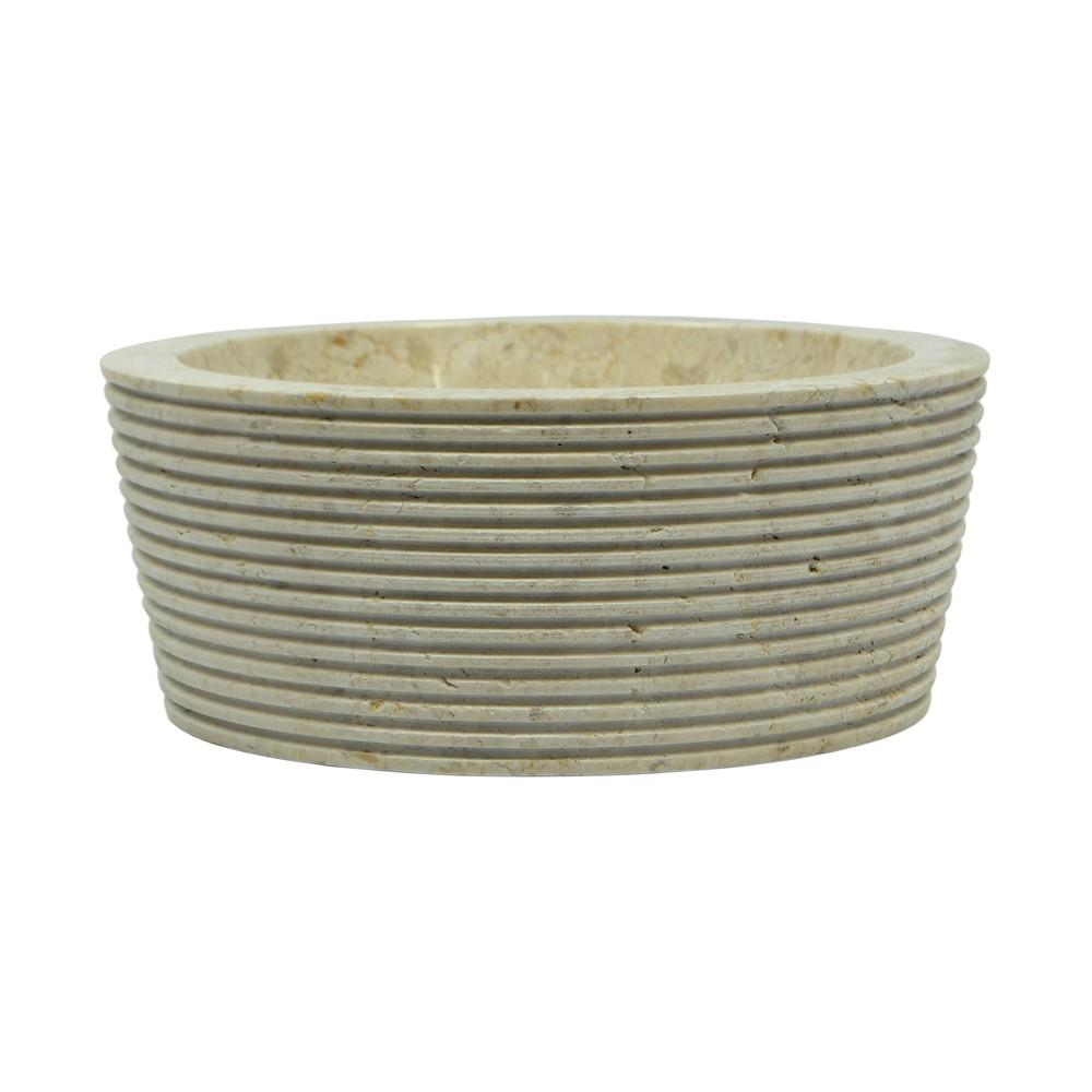 naturstein marmor waschbecken minijaya waschschale rund creme 30 cm klein ebay. Black Bedroom Furniture Sets. Home Design Ideas