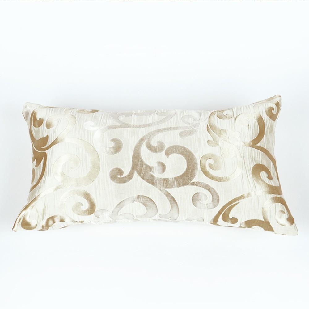 kissenh lle mekar kissen bezug 50x30cm creme gold sofakissen dekoration ebay. Black Bedroom Furniture Sets. Home Design Ideas