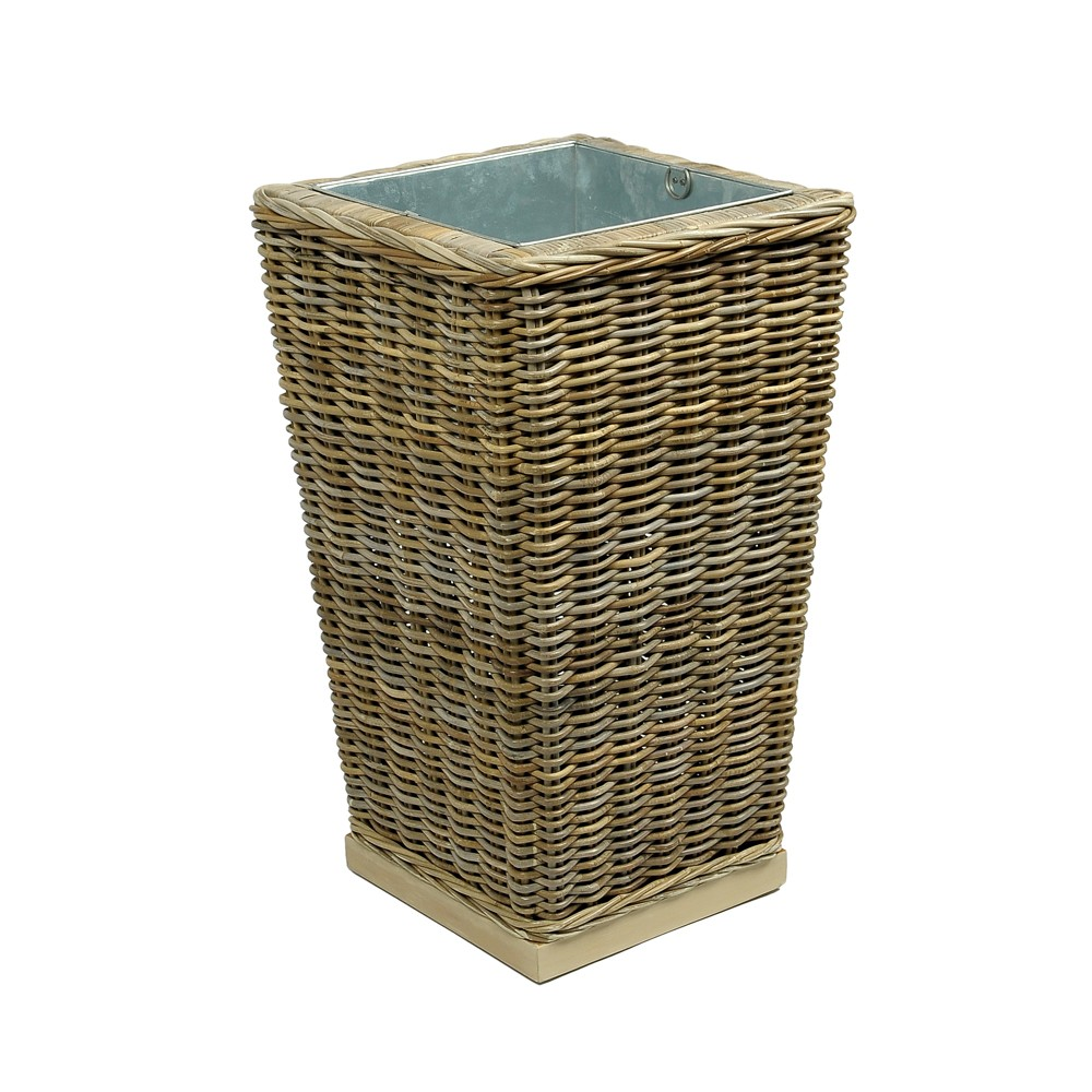 rattan pflanzk bel blumenst nder vase pflanzs ule gro ca 45x45x75cm ebay. Black Bedroom Furniture Sets. Home Design Ideas