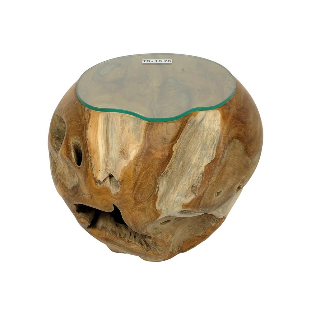 Teakholz kugel teakball tisch wohnzimmertisch for Wohnzimmertisch 50 cm