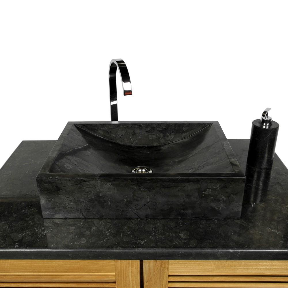 Naturstein marmor waschbecken perahu waschtisch schwarz for Italienische badhersteller