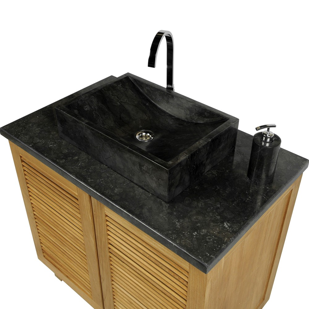 naturstein marmor waschbecken perahu waschtisch schwarz. Black Bedroom Furniture Sets. Home Design Ideas